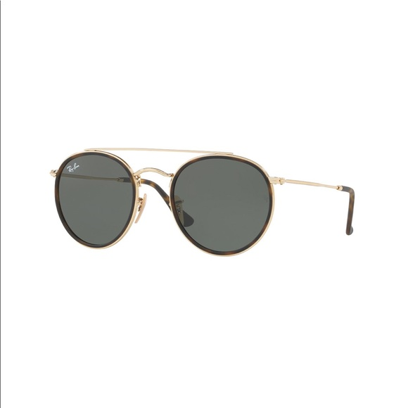 60367f1b06 RAY BANS round double bridge Metal Sunglasses. M 5c4d440dde6f62179a85f787